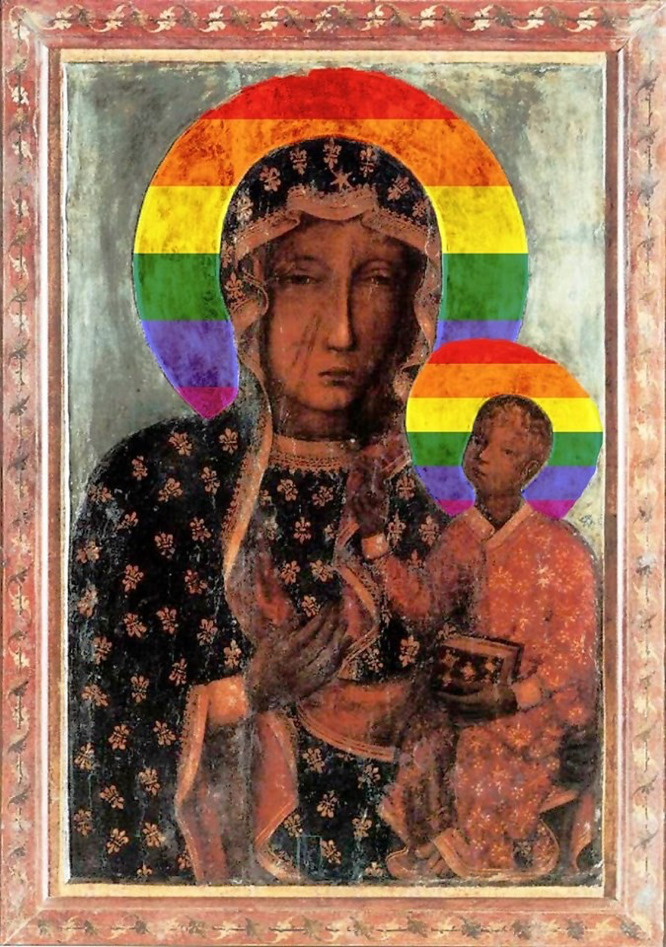 Podleśna rainbow Virgin Mary