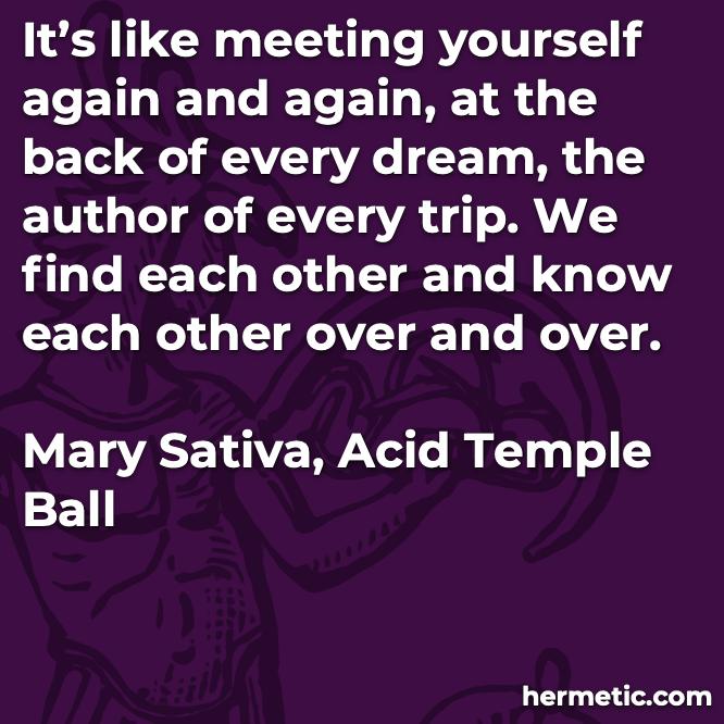 Hermetic quote Sativa Acid meeting