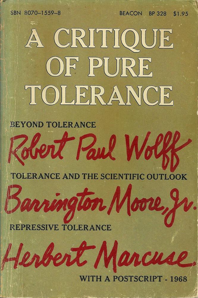 Wolff A Critique of Pure Tolerance
